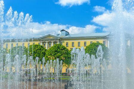 st  petersburg: Fotan on Lenin square in St. Petersburg