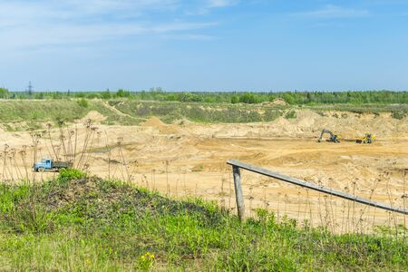 sand quarry: Sand extraction from the quarry Stock Photo