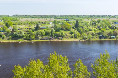 volkhov: The river Volkhov near the village Semenkovo, Russia, Leningrad region Stock Photo