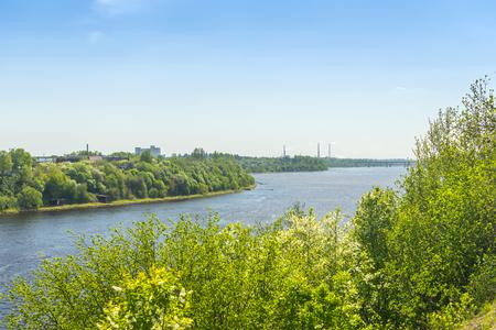 leningradskaya: The river Volkhov near the village Semenkovo, Russia, Leningrad region Stock Photo