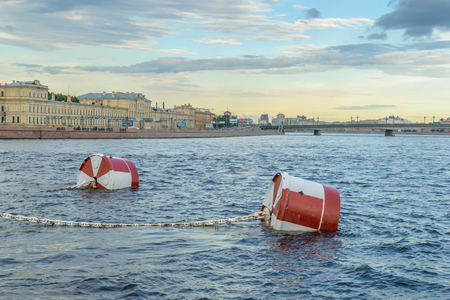 deck cannon: mooring barrel cruiser Aurora on the Neva River