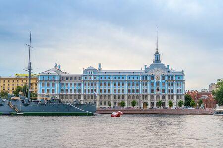 st  petersburg: SAINT-PETERSBURG, RUSSIA - AUGUST 5, 2016: St. Petersburg Nakhimov Naval School