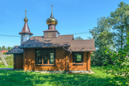 RUSSIA, KALININGRAD OBLAST, CURONIAN SPIT - August 2016: the Orthodox Church in the village Morskoje on Kurskoy spit
