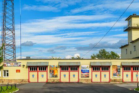 volkhov: RUSSIA, LENINGRAD REGION, VOLKHOV-1 — August, 2016: Fire Department in the town of Volkhov Editorial