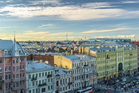 RUSSIA, SAINT-PETERSBURG, - September, 2016: St. Petersburg. Ligovsky Prospekt. The view from the roof