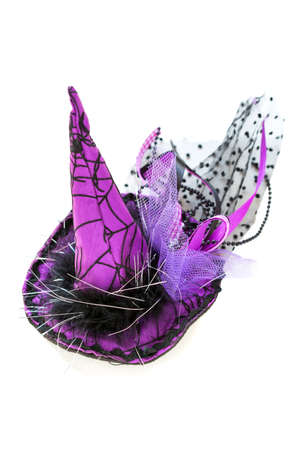 flirtatious: Flirtatious witch hat for Halloween on a white background.
