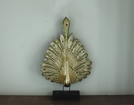 Peacock Statue in brass for home decoration.