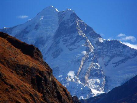 Garhwal Himalayan Peaks from Tapovan, India Stock Photo