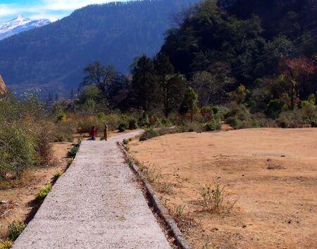 Mountain Road, kalpeshwar, Himalayas, Garhwal, Village Road