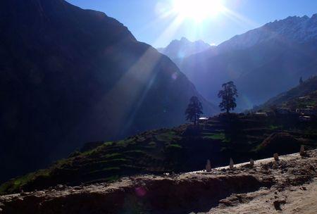 Mountain, On the road to Kalpeshwar, Himalayas, Garhwal Stock Photo - 6459042