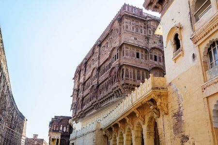 Different parts of Mehrangarh Fort, Rajasthan, Jodhpur, India Stock Photo