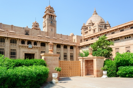 Outside view of Umaid Bhawan Palace of Jodhpur, Rajasthan, India