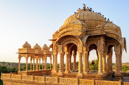 monument in india: Cenotaphs of Bada Bagh, Kings memorials, Jaisalmer, Rajasthan