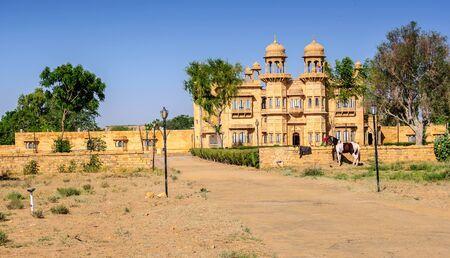 External view of a Palace of Jaisalmer, Rajasthan, India