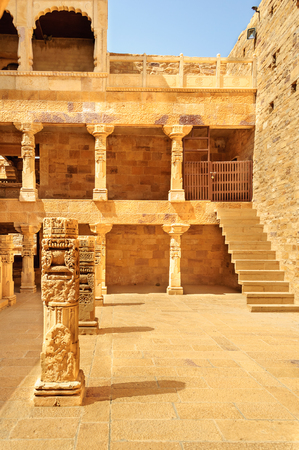 Different Parts of Golden Fort of Jaisalmer, Rajasthan India with copy space