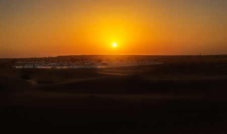 Sunset in Indian Thar Desert copy space