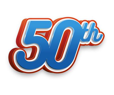 50e evenementnummer voor poster of uitnodiging Stockfoto