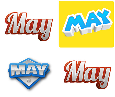 May month text for Calendar Design Stock Photo