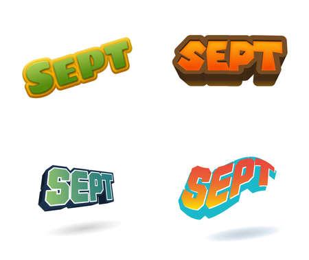 September month text for Calendar Design Banque d'images