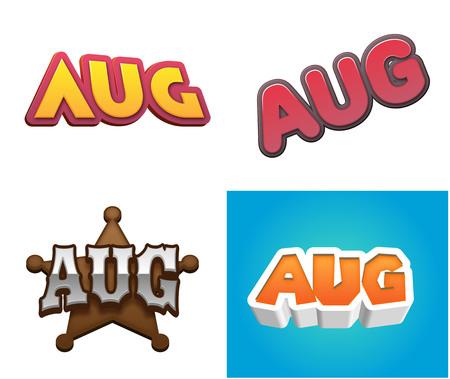 salarios: Texto del mes de agosto para el diseño del calendario