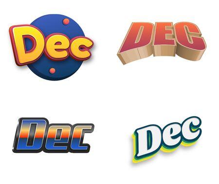 December text for new calendar