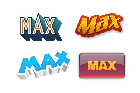 Max Text for Title or Headline. In 3D Fancy Fun and Futuristic style