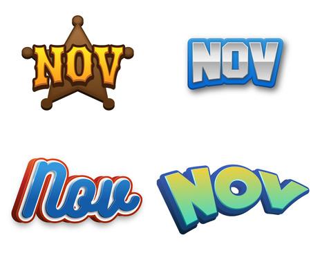 November month text for Calendar Design Stock Photo