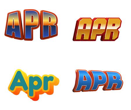 April month text for Calendar Design