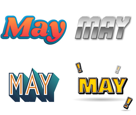 weekly: May month text for Calendar Design Stock Photo