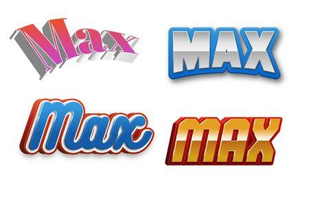 제목 또는 제목의 최대 텍스트 3D Fancy Fun and Futuristic 스타일