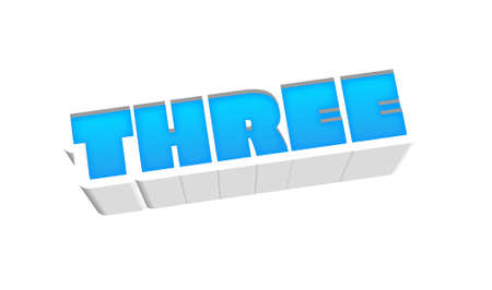 Three Number Text for Title or Headline. In Fancy Fun style Stock Photo