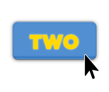 Two Number Text for Title or Headline. In Fancy style Stock Photo
