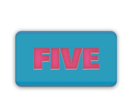 royalty free: Five Number Text for Title or Headline. In Fancy style