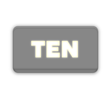 10 Ten Number Text for Title or Headline. In Fancy style Stock Photo
