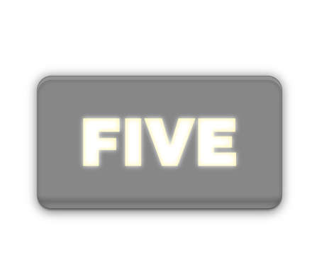 Five Number Text for Title or Headline. In Fancy style