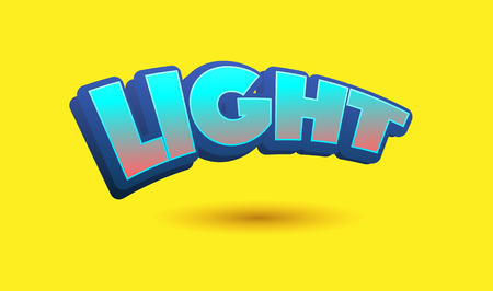 Light Text for Title or Headline. In 3D Fancy Fun and Futuristic style