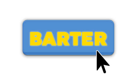 Barter Text for Title or Headline. In 3D Fancy Fun and Futuristic style Stock Photo