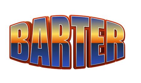Texto de trueque para título o título. En 3D Fancy Fun y estilo futurista