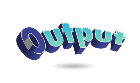 Output Text for Title or Headline. In 3D Fancy Fun and Futuristic style Stock Photo