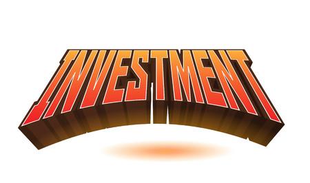 Texte d'investissement pour titre ou titre. En 3D Fancy Fun et style futuriste Banque d'images - 78438481