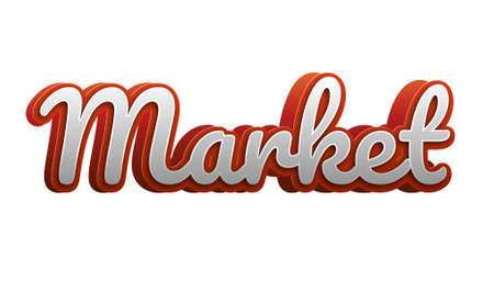 Market text. fancy style