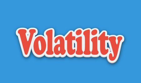 Volatility Text for Title or Headline. In 3D Fancy Fun and Futuristic style