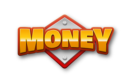 Money Text for Title or Headline. In 3D Fancy Fun and Futuristic style