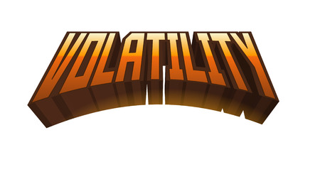 variable: Volatility Text for Title or Headline. In 3D Fancy Fun and Futuristic style