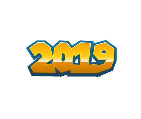 2019 Text for new Calendar template Stock Photo