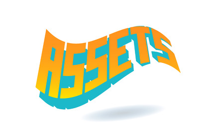 Assets Text for Title or Headline. In 3D Fancy Fun and Futuristic style