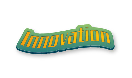 Innovation Text for Title or Headline. In 3D Fancy Fun and Futuristic style