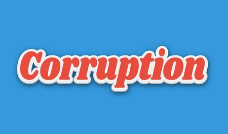 Corruption Text for Title or Headline. In 3D Fancy Fun and Futuristic style Stock Photo
