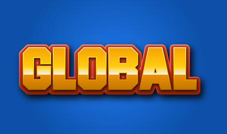 Global Text for Title or Headline. In 3D Fancy Fun and Futuristic style
