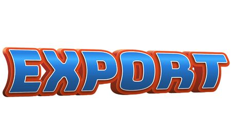 Export Text for Title or Headline. In 3D Fancy Fun and Futuristic style